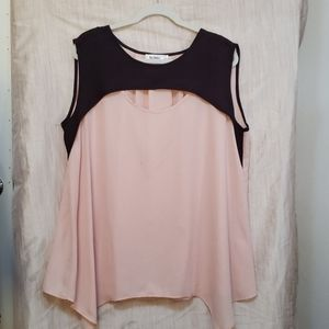 Nextmia womens top color block Sleeveless size 18